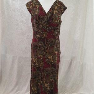 Ann Taylor Loft Paisley Dress